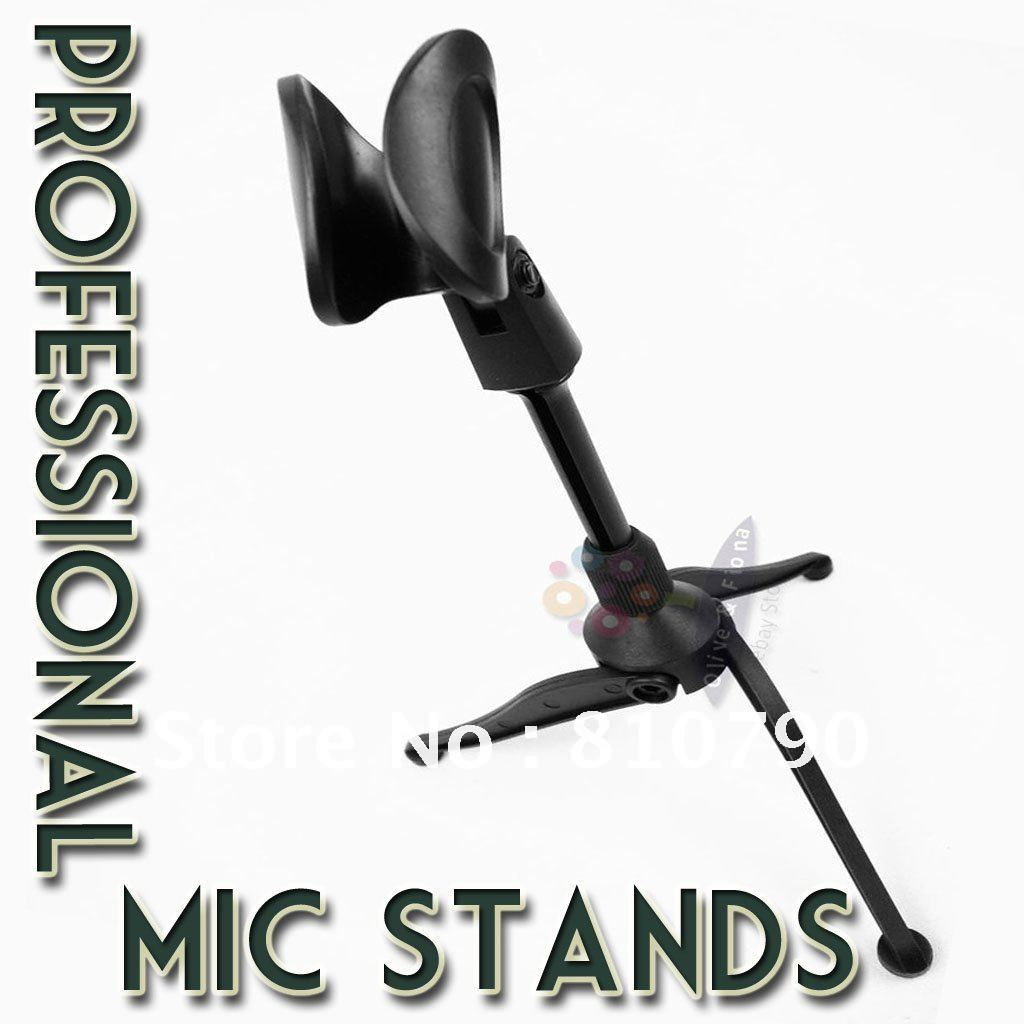 Free shipping! Excellent quality microphone/desktop stand, tripod folding stand, adjustable hight