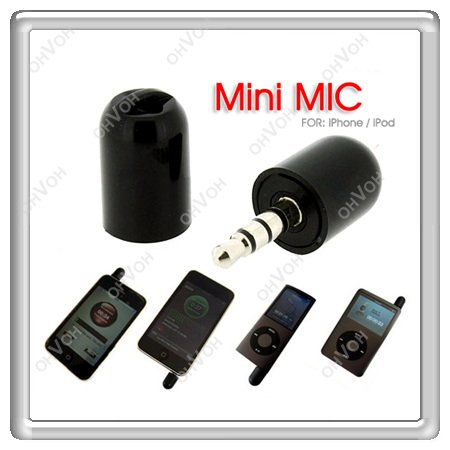 S5Y Mini Microphone Mic Recorder for Touch Nano Iphone 3G 3GS Black Flexible PDA