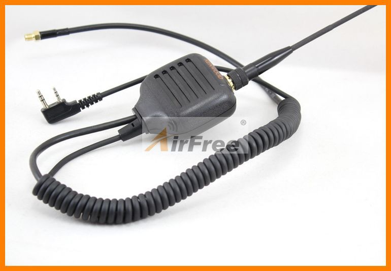 Free shipping Mic Handheld Speaker Microphone + Antenna SMA-F Adapter For Baofeng WOUXUN UV-5R