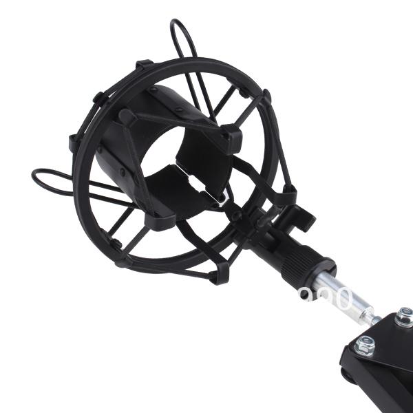 Broadcasting Studio Microphone Suspension Boom Scissor Arm stand with Shock Mount