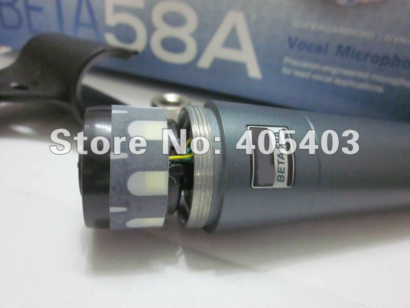 Free shipping Wholesale 5pcs/lots Beta58  beta 58 Cardioid Dynamic MIC Wire Microphone 58a