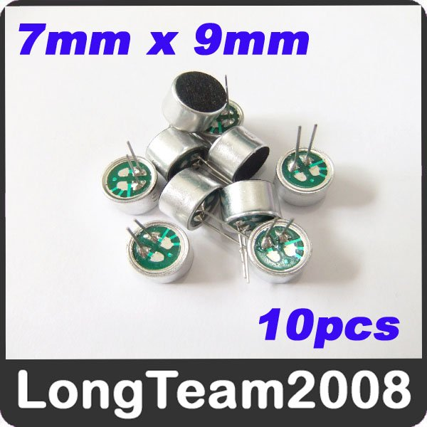 10pcs Electret Microphone with Dustscreen & Lead foot Microphone 7mmx9mm s870_3