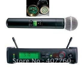 Free shipping  UHF SLX24 beta58 58A  handheld wireless microphone system 3 pins