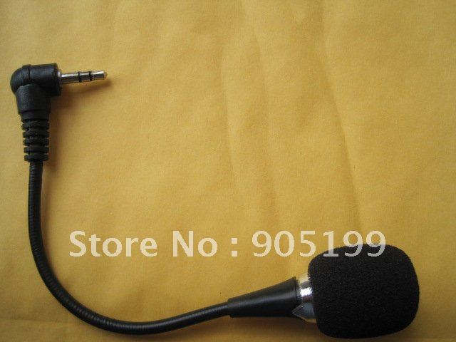 High Quality Mini 3.5mm Flexible Microphone For PC Laptop Skype MSN Free shipping DHL UPS HKPAM