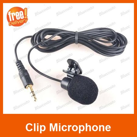 Retail 1PCS,3.5mm Clip On Mic Mini Microphone For Laptop PC Computer MSN Skype VOIP,FREE SHIPPING