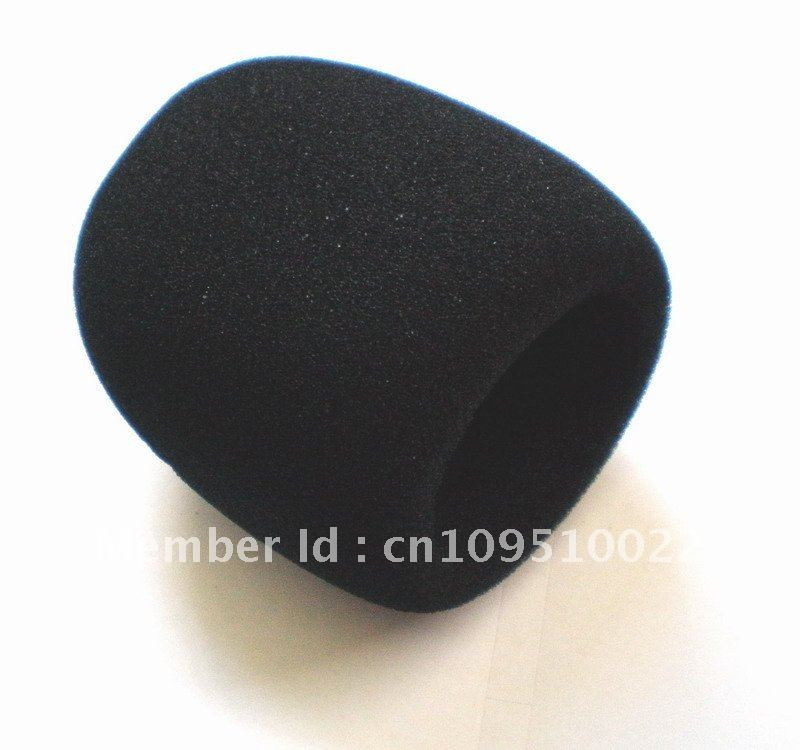 Free shipping 5pcs/lot black Microphone Grill Foam Cover Audio Mic Shield cap sponge