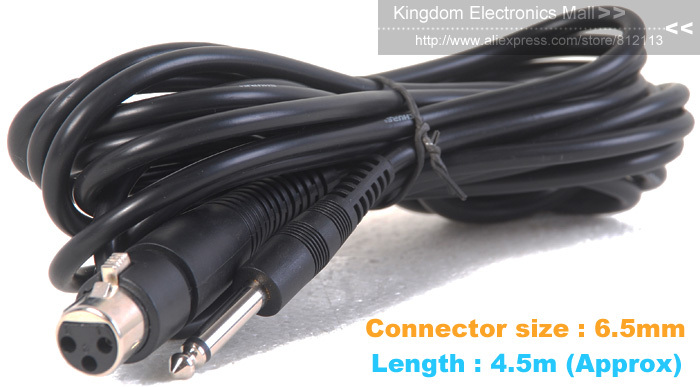 Free-Shipping! 6.5mm Premium Top Quality Microphone Cable 6.5 mm Millimetre Millimeter Wire Brand New!