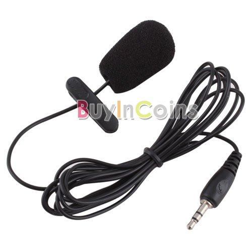New 3.5mm Mini Studio Speech Mic Microphone w/ Clip for PC Desktop Notebook #14  [20666|01|01]