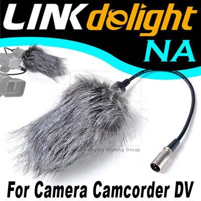 Pro Camera Microphone Mic+ Windscreen Windshield Fur Muff PO120Y free shipping