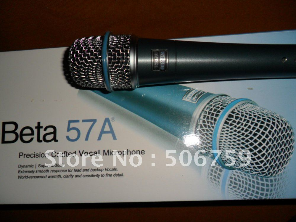 new product   free shipping Direct transport  bet*57 ktv micrphone   No switch   Wired Microphones  2pcs