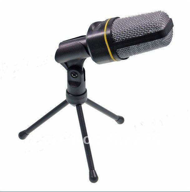 SF-920 Tripod Condenser Microphone for PC Laptop Notebook Black + Silver (3.5mm /Jack)