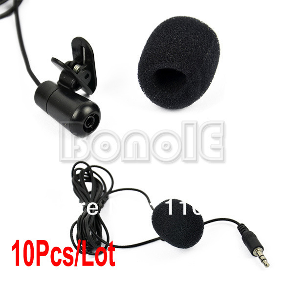 10Pcs/Lot 3.5mm Mini Speech Mic Microphone Clip for PC Desktop Notebook Free Shipping 8827