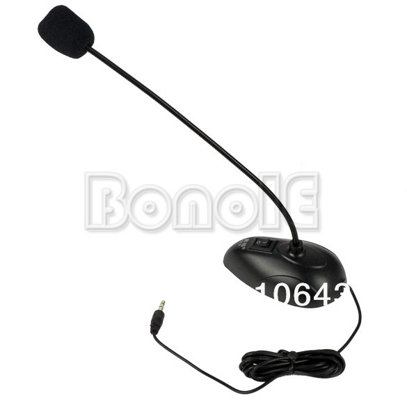 Cheapest Desktop Goose Neck Microphone Mic 3.5mm Stereo Audio Jack Noise Cancellation for PC Desktop Notebook Free Shipping 8856
