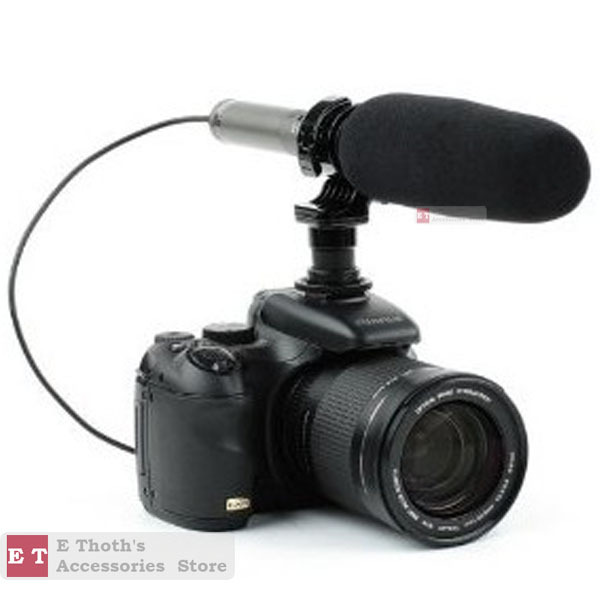 WHOLESALEF FOR SG-209 Electret Condenser DV Stereo Microphone for Canon 650D 600D 550D Nikon WITH TRACKING NUMBER