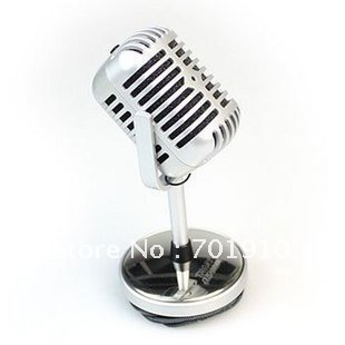 free shipping Nostalgic classic personality microphone,Microphone for your laptop & desktop,Network microphone silver NT-1003