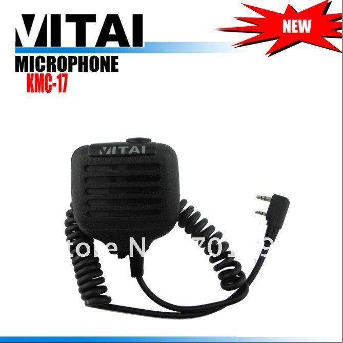 Free Shipping+ One Year Warranty  KMC-17 Walike Talkie Speaker Microhone