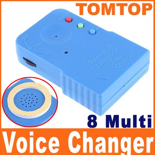 Wireless Mini 8 Multi Voice Changer Microphone Disguiser  Free Shipping Dropshipping