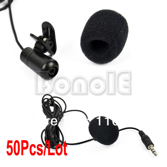 Wholesale 50Pcs/Lot 3.5mm Mini Speech Mic Microphone Clip for PC Desktop Notebook Free Shipping 8827