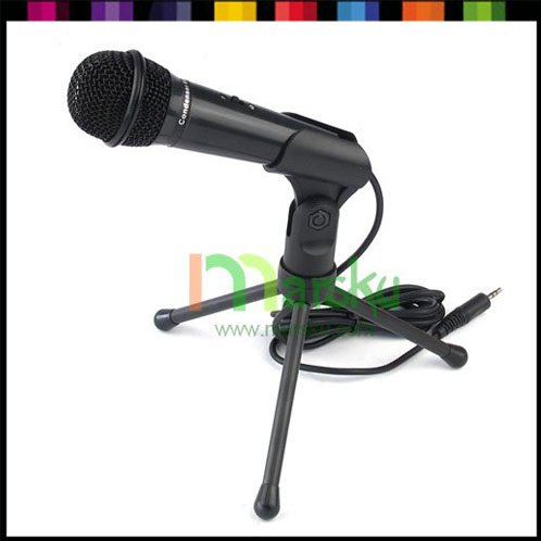 SF-910 3.5mm Stereo Condenser Mic Microphone for Laptop Notebook PC Computer #2347