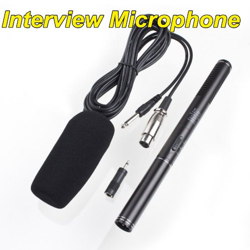 Professional Uni-Directional Shotgun interview Microphone conderser  free shipping