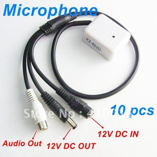 New Mic Audio CCTV Microphone cable for DVR Camera 10PCS