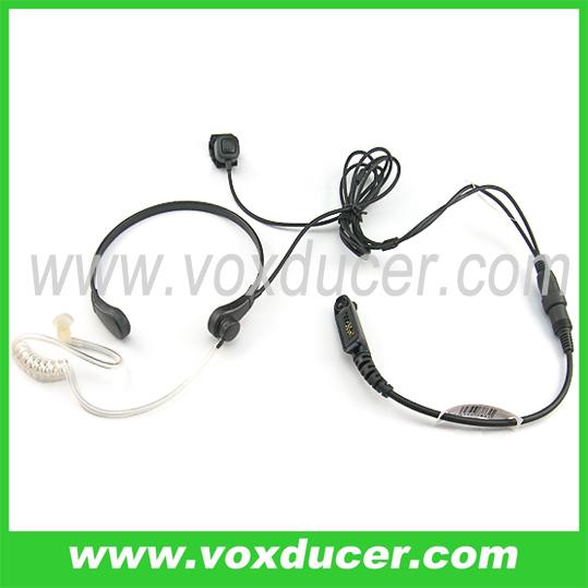 For Motorola walkie talkie PTX760plus GP328plus GP388 light duty Throat Vibration Mic Earpiece