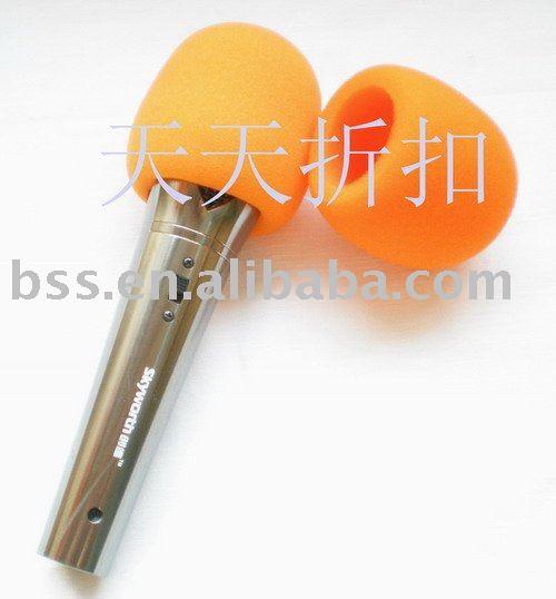 Free shipping 10pcs/lot high quality  orange Microphone Grill Foam Cover Audio Mic Shield