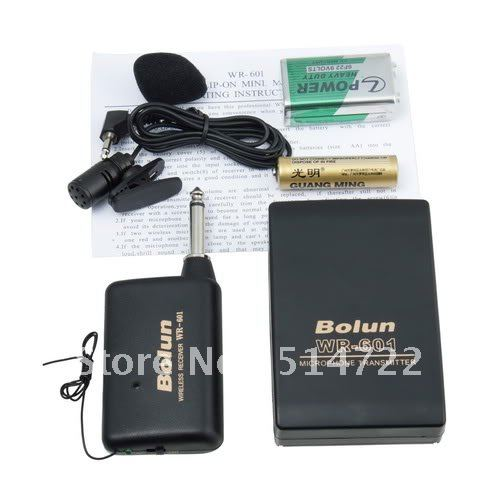 WIRELESS MICROPHONE TRANSMITTER + CLIP-ON MIC + HEADSET