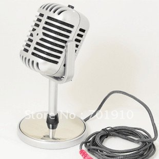 Nostalgic classic personality microphone,Microphone for your laptop & desktop,Network microphone silver NT-1003