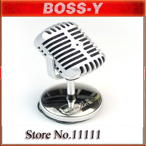 Nostalgic classic personality microphone,Microphone for your laptop & desktop,Network microphone,silver color ,