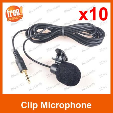 Free Shipping 10pcs Wholesales mini Clip On Mic Microphone For MSN Skype VOIP
