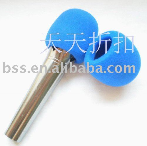 Free shipping 10pcs/lot high quality BLUE Microphone Grill Foam Cover Audio Mic Shield