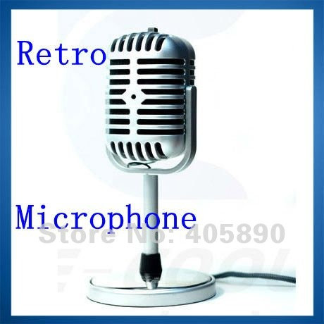 Retro Microphone for Computer Sing and Chat Personalized Classics