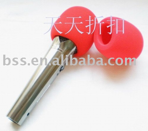 10pcs/lot Free shipping red Microphone Grill Foam Cover Audio Mic Shield