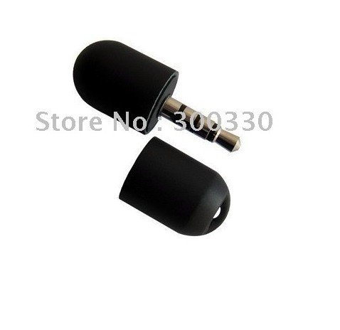 Mini Microphone for iPhone 3G 3gs (3.5mm Jack/Black) 1pcs send by hong kong post