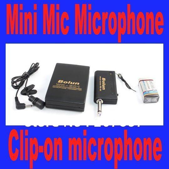 Wireless WR-601 MINI Mic Wireless Headset MINI Mic Clip-On Microphone tie clip microphone for PC free shipping