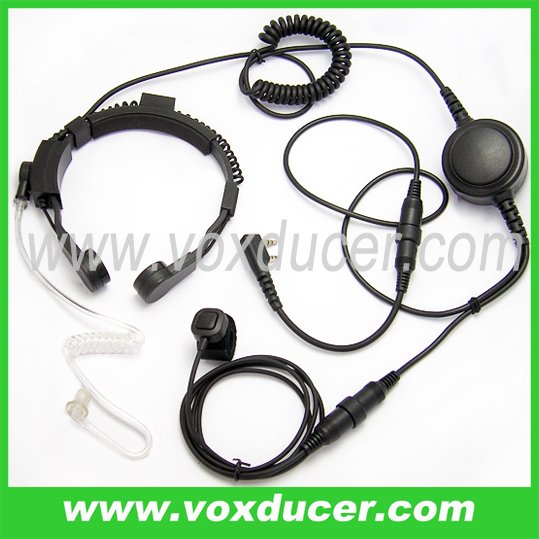 For Kenwood VHF UHF radio TK-260 TK-260G military throat mic