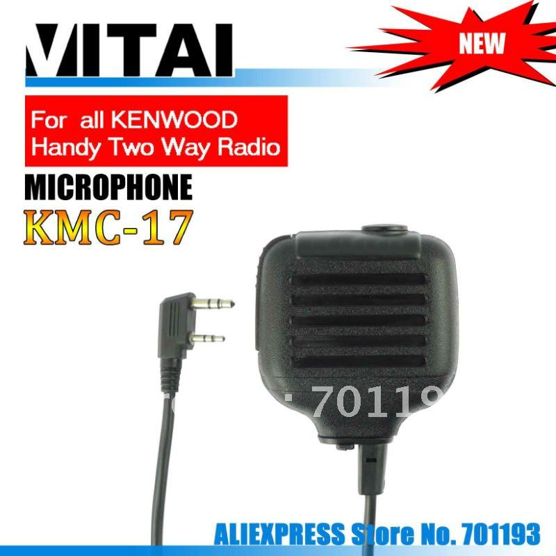 Free Shipping Speaker Mic  KMC-17 for Handheld Two Way Radio with One Year Warranty