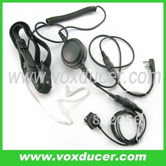 Military throat vibration mic with Mini-din plug for WOUXUN transceiver KG669 KG659 KG679 KG689