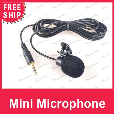 Clip On Mic,mini Microphone For Skype VOIP Laptop PC Computer,free shipping