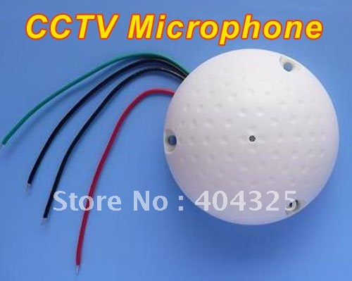 New Mini Mic CCTV Microphone Cable DVR Audio Pick up Device for Camera Adapter