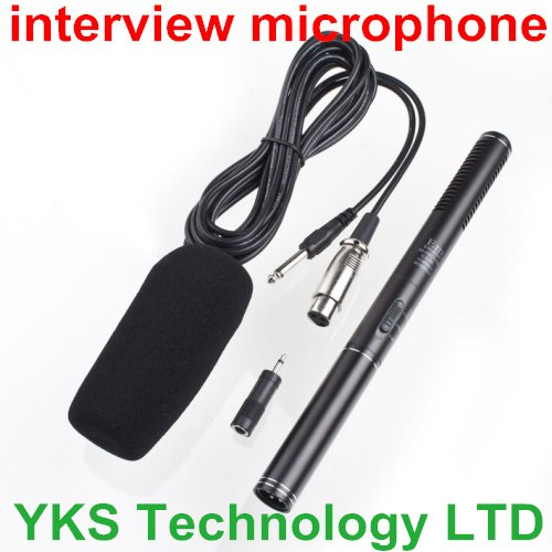 free shipping  professional conderser EM-320E Shotgun  interview  Microphone