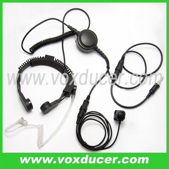 Detachable Military Throat Microphone with clear tube for Yaesu Vertex VX6R/E VX7R/E VX170 VX177