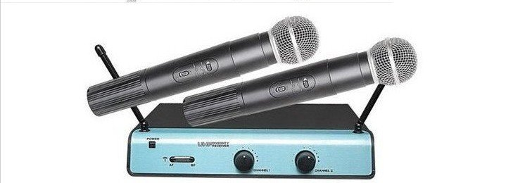 Free shipping,E UT 24/  S M  58 Two Hand Set Wireless Microphones