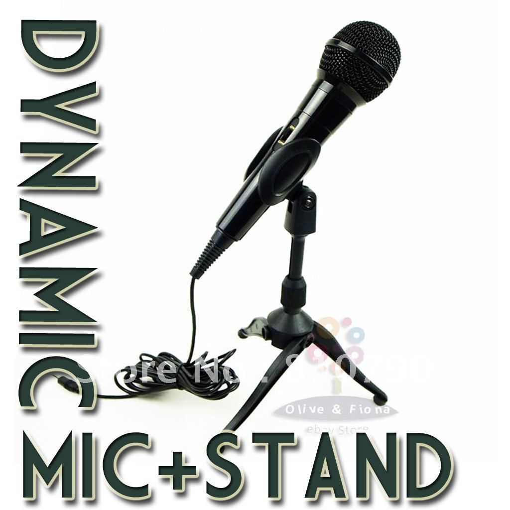 Free shipping! New Professional Mic for PC With Stand, Dynamic Microphone, Wired microphone + stand