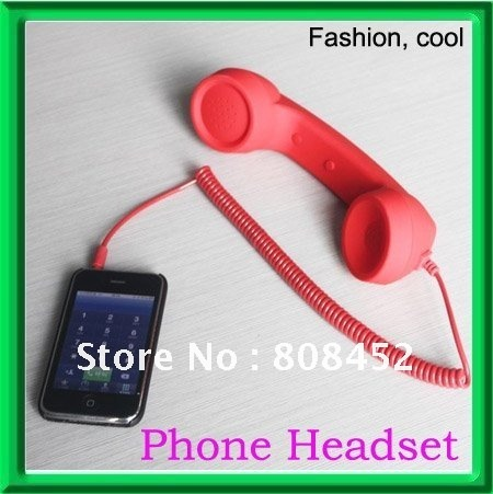 2012 Gift lastest Telephone Headsets for phone ,Stylish retro mobile phone handset for,Free Shipping!