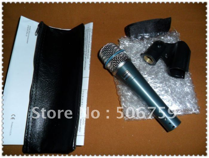 new product   free shipping Direct transport  bet*57 ktv micrphone   No switch   Wired Microphones  10pcs