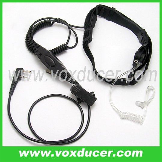 Wholesale 50pcs/lot --Police radio throat mic for Kenwood interphone TK-340D TK-348 TK-350