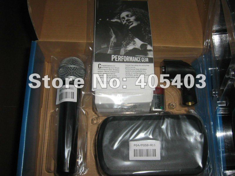 Free shipping  PG 24    Wireless Microphone System  PG 58