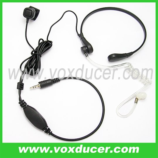 High quality transparent clear tube throat mic for Motorola radio Visar series